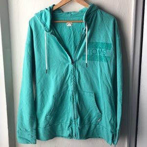TOMS zip up hoodie size L